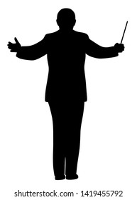 Illustration of a music conductor