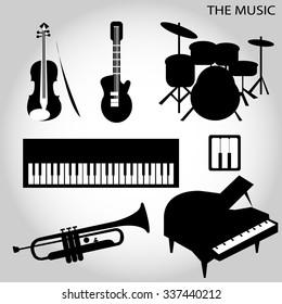 Illustration of a music icon, vector illustration