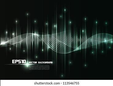 illustration of musical bar showing volume.