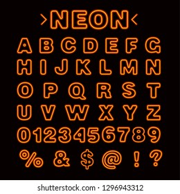 Illustration of The Neon Lights English Alphabet capital letters vector
