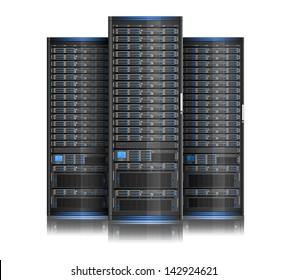 Illustration of network server, EPS 8, no transparency