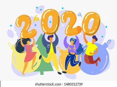 Illustration for the New Year 2020.
