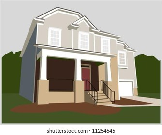 Illustration of a nice home