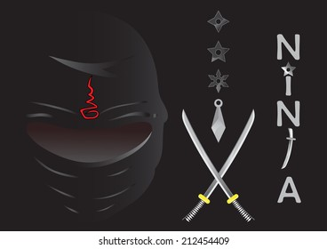 Illustration of ninja cartoon vector