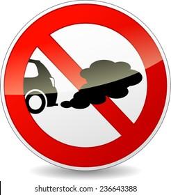 illustration of no smoking cars circle sign