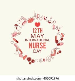 illustration of Nurse Day background.