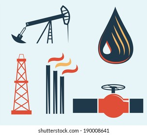 illustration of oil and gas industry