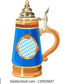 Illustration of Oktoberfest Mug