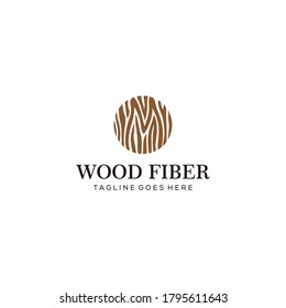 Illustration old wood fiber pattern vintage Logo Template vector illustration