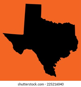 An Illustration on an Orange background of Texas