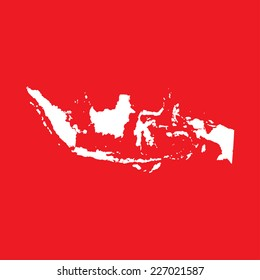 An Illustration on an Red background of Indonesia