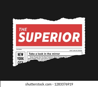 Illustration On Torn Paper Slogan, t-shirt for graphic design and different jobs - vector