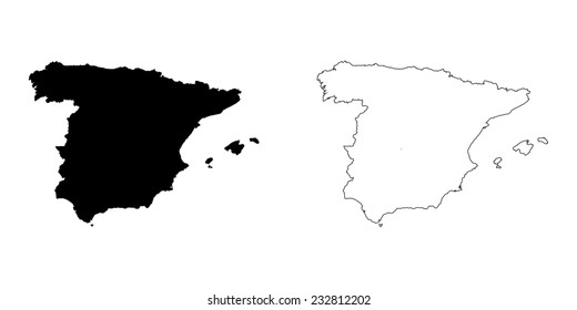 Blank Map Of Spain Regions.Spain Shape Images Stock Photos Vectors Shutterstock