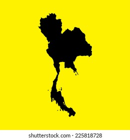 An Illustration on an Yellow background of Thailand