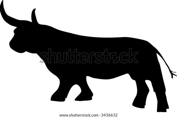 illustration of one bull