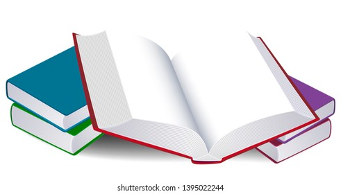 Illustration of an open book. Free space for text. Lifestyle Concept.