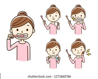 Illustration of oral care.