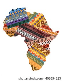 Illustration of Ornamental African continent