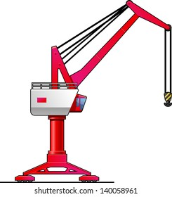 illustration of overhead gantry crane. Simple gradients only - no gradient mesh.