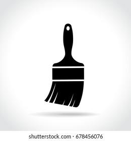 Illustration of paintbrush icon on white background