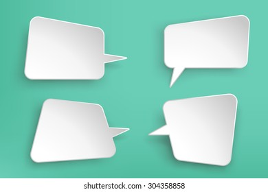 illustration of paper lists set with different shapes