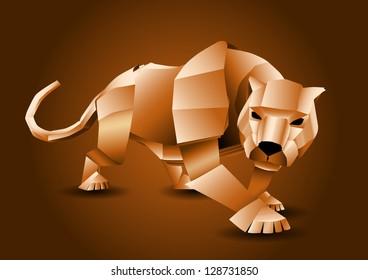 Illustration of a paper tiger