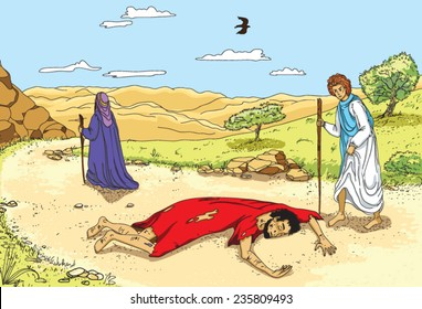 illustration of the Parable of the Good Samaritan