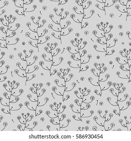 illustration of a pattern with hand drawing organic