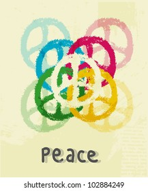 illustration of peace sign
