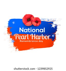 Illustration of Pearl harbor remembrance day background.