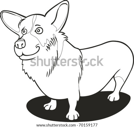 Illustration Pembroke Welsh Corgi Coloring Book Stock Vector