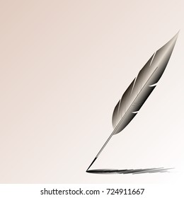 Illustration of the pen of the writer