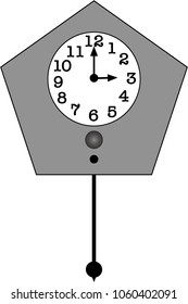 Illustration of Pendulum Clock