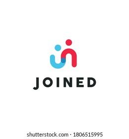Illustration People Logo Design Template