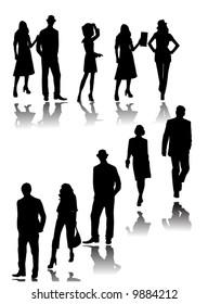 Illustration of people silhouette