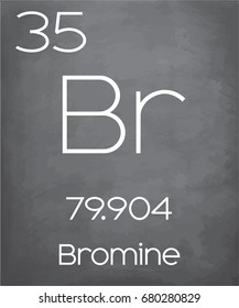 An Illustration of the Periodic Element  Bromine