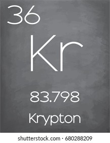 An Illustration of the Periodic Element  Krypton