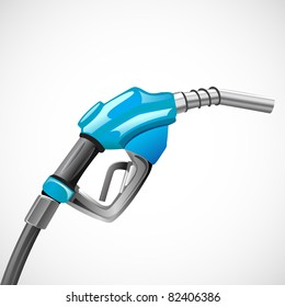 illustration of petrol nozzle on abstract background