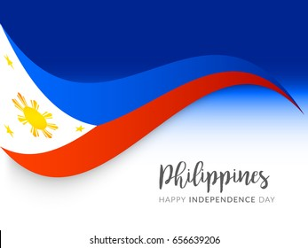 Illustration of Philippines Independence Day Greeting Card Background,Poster Or Banner Template.