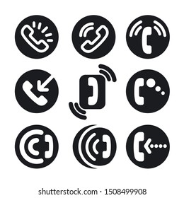 illustration of the phone call icon set