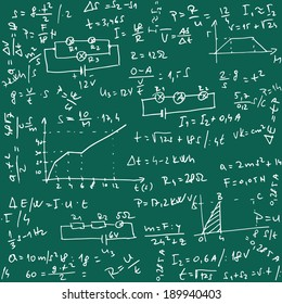 Illustration of Physics Pattern as Vector Seamless Background