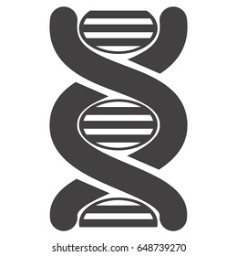 Illustration Pictogram of DNA Symbol Isolated on White Background - Vector