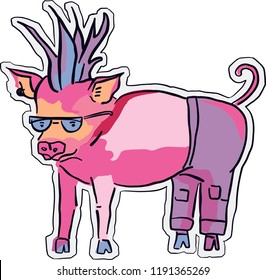 Illustration of Pig character
