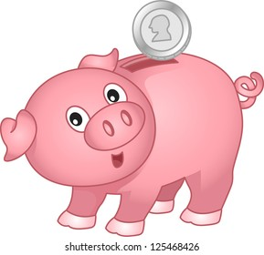piggy bank clip art images stock photos vectors shutterstock rh shutterstock com cartoon piggy bank clipart cute piggy bank clipart