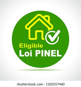 Illustration of pinel french law green icon