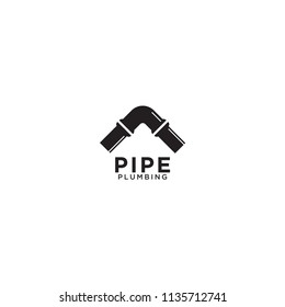 Illustration of pipe plumbing graphic design template