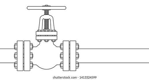 Illustration of the pipeline valve stopcock