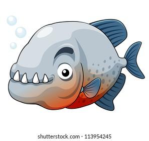 illustration of piranha fish vector