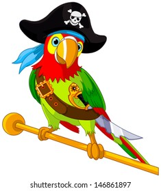Illustration of Pirate Parrot
