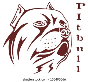 illustration Pitbull head